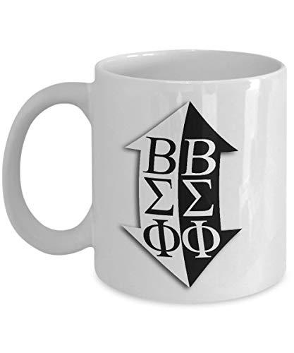 Beta Sigma Phi - Sorority Mug - Sisters Pledges House Gift 11 oz Ceramic Cup for Coffee Tea Drinks 11 oz