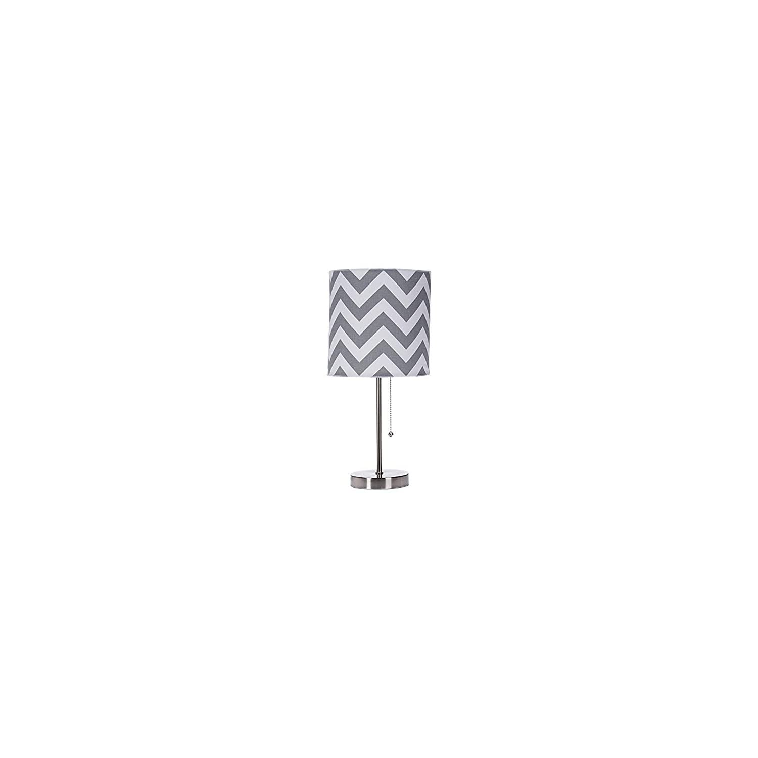 Sweet Potato Swizzle Yellow Mod lamp & Grey Chevron Shade
