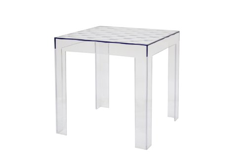 Baxton Studio Parq Clear Acrylic Modern End Table ()