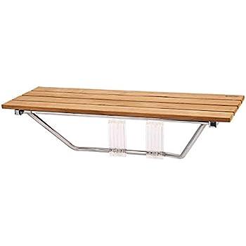 Amazon Com 30 X12 5 Teak Shower Bench Seat Wall Mount