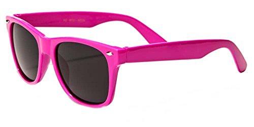 Kids Childrens 80's Classic Retro Sunglasses (Pink)