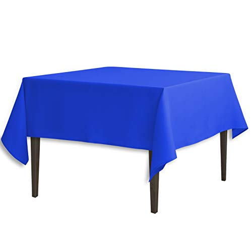 LinenTablecloth 70-Inch Square Polyester Tablecloth Royal Blue