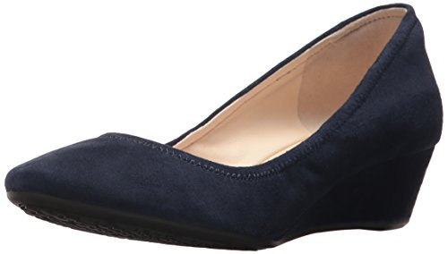 Crew Haan Womens Sadie Wedge 40mm Pump Marine Blue
