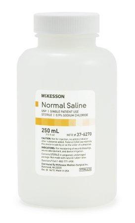 McKesson Irrigation Solution Sodium Chloride 0.9% Solution Bottle, Screw  Top 500 ml (Normal