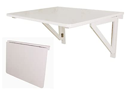 SoBuy® Tavolo da muro pieghevole in legno 75 * 60cm, senza sedia ...