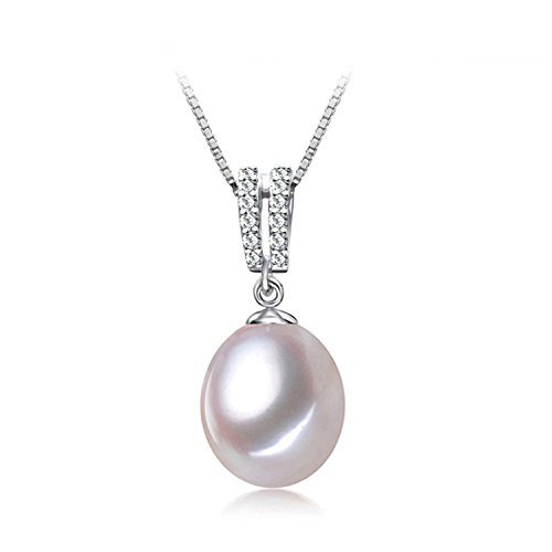 SuperLouisa Fashion Pearl pendant Necklace,Pearl Jewelry,Choker wedding Jewelry 9-10mm Love vintage Pearl Necklace - Stores Near Outlet Diego San