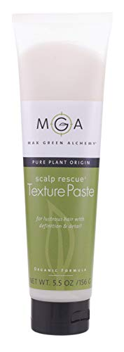 Scalp Rescue Texture Paste - 5.5 Ounce Tube - Organic Formula - For Lustre, Definition Detail, Gloss, Shine, Vegan, Medium Hold, Layered Cuts, Color Safe, Can Restyle, Gluten Free, Humidity Resist