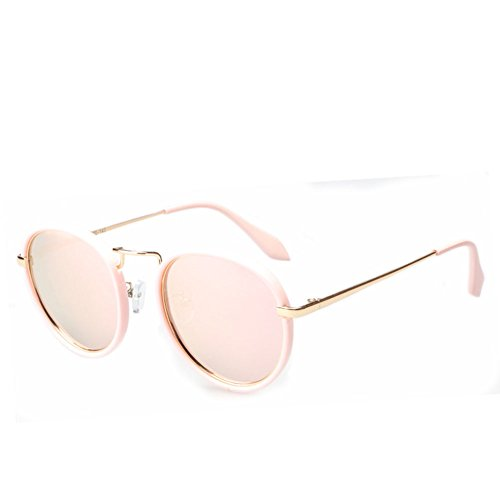 Polarizado De Unisex De Marco UV Moda Black Redondo Protección Libre Viaje Gafas Retro Gafas Aire Personalidad Sol Al Pink f7n5vzXn