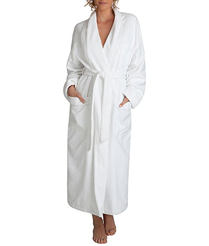 - Monarch/Cypress Waffle Terry-Lined Robe, One Size, White