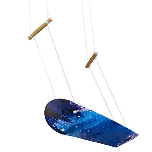 (Aoneky Stand up Surf Swing Set - Wooden Skateboard Swing Toy, Surfing Tree Swing Gift for Kids and Adults)
