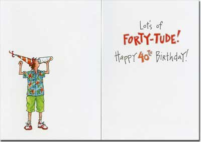 Face Another Beer Funny 40th Birthday Card