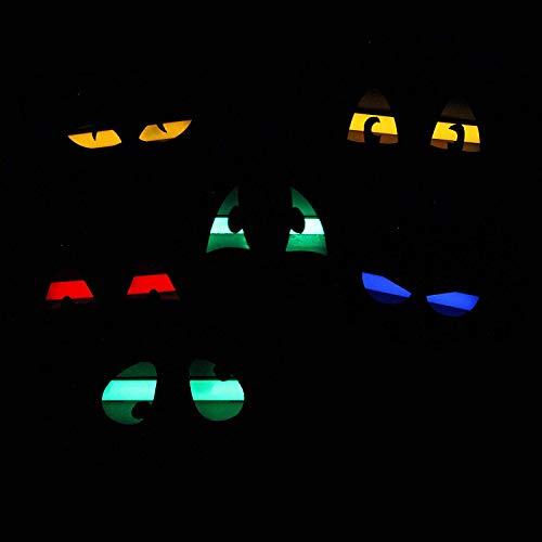 Halloween Lighted Eyes Window (JOYIN Halloween 6 Pieces Plastic Eye Decorations with 24 Glow in The Dark Long Lasting Glow Sticks Festive Party)