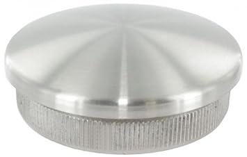 V2A Endkappe gewölbt massiv für Rohr 42,4 x 2,0 mm