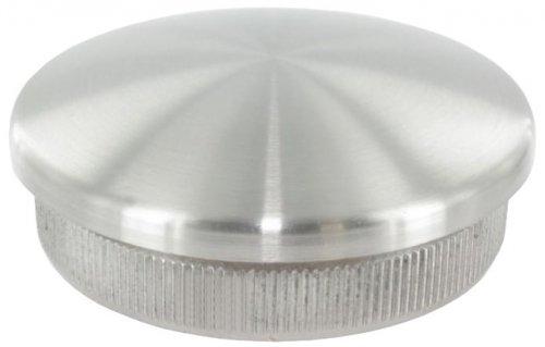 Endkappe leicht gewölbt, massiv, für Rohr ø 48,3 x 2,0mm, zum Einschlagen Endkappe leicht gewölbt für Rohr ø 48 edelstahlonline24