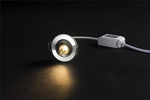 10 Stück 3W LED Mini Einbauleuchte Rund verstellbarer Spot Deckenlampe 220V LED-Schrankleuchte