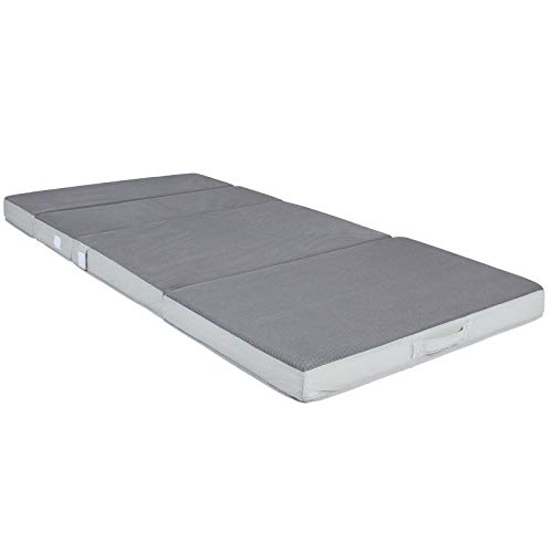 Best Choice Products 4in Thick Folding Portable Full Mattress Topper w/High-Density Foam, Washable Cover