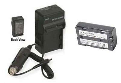 Battery + Charger for Panasonic CGR-D08, Panasonic CGR-D08A, Panasonic CGR-D08A/1B, Panasonic CGR-D08R, Panasonic CGR-D110