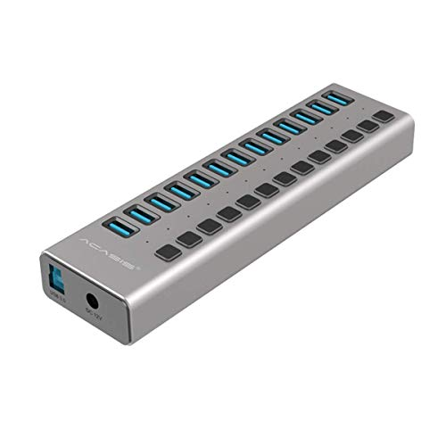 USB 3.0 Hub with Power Adapter and Charging Port & Individua