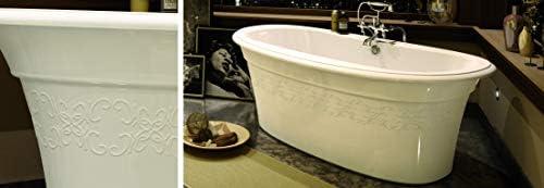 Maax Ella Freestanding Bathtub with Embossed Design 105745-000-001