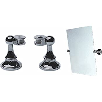 Amazon Com Brushed Nickel Victorian Mirror Pivots Pair