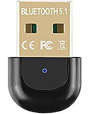 Bluetooth Adapter, POMME RTL Bluetooth 5.1 Car Transmitter Receiver, Usb Bluetooth Adapter Stöder konfigurationsfil och för laptop, skrivare, headset, tangentbord Kompatibel med Windows 7/8 / 8.1 / 10