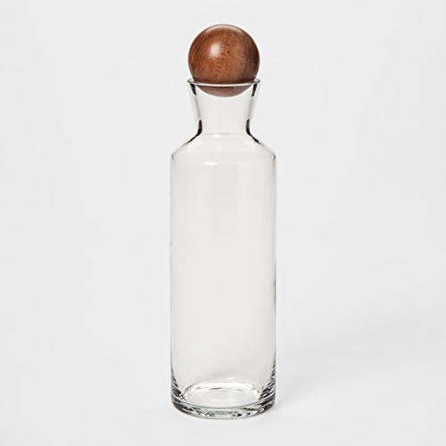 Glass Decanter with Wood Stopper (Wine) (Wine Decanter Wood Stopper)