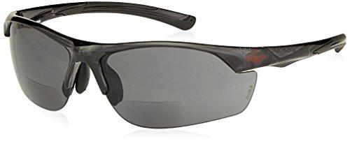 - Crossfire Safety Glasses AR3 Bifocal Reader (1.50 Smoke Lens Crystal Black Frame)