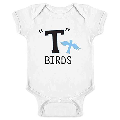 T Birds Gang Logo Costume Retro 50s 60s White 12M Infant Bodysuit]()