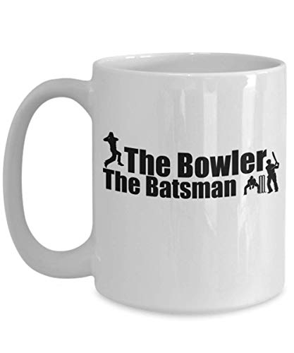 (The Bowler Batsman Funny Cricket Coffee Mug Gift Great Top Tea Cup Present Dad)