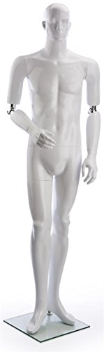 - Displays2go Male Full Body Retail Store Mannequin, Poseable Arms