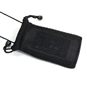 Cosmos Black Fashionable Grid Breathable case bag pouch/ Neck Strap for Cellphone / Digital Camera /MP3/MP4/ iphone 4 4s 3 3Gs HTC one X LG MOTOROLA+ Cosmos cable tie from Cosmos
