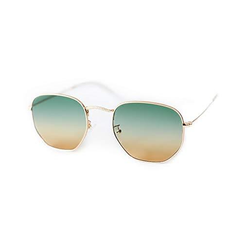 de lunettes soleil NIFG en de Lunettes irrégulières UV métal rétro minces anti soleil qf16wx65