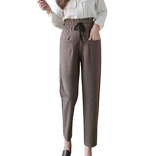 Kmart Halloween Decorations 2019 (iLOOSKR Autumn Winter Comfy Women High Waist Large Size Trouser Casual Harem Woolen Pants)