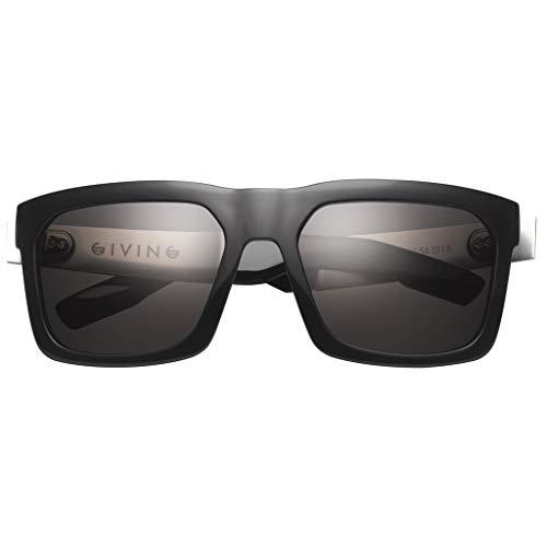 IVI Giving Sunglasses - IVI Men's Polarized Lifestyle Eyewear - Polished Black/Grey / One Size Fits All