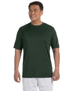- Champion Men's 4 oz. Double Dry Performance T-Shirt, Dark Green, LARGE