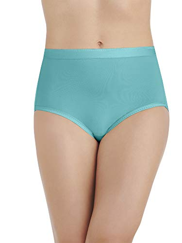 Vanity Fair Women's Comfort Where It Counts Brief Panty 13163, Rainforest Aqua, - Aqua Panty Brief