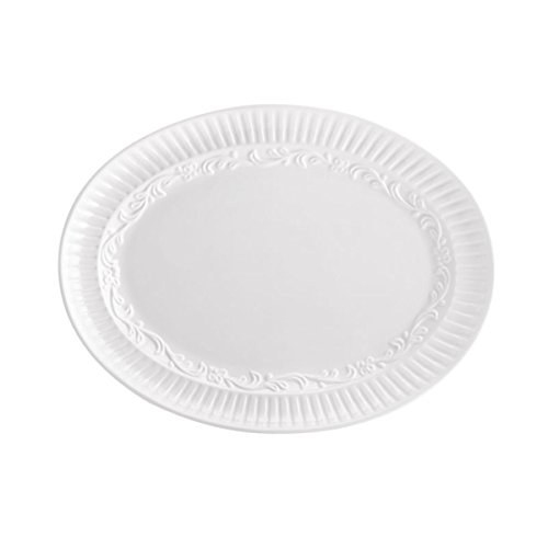 Countryside Stoneware - Mikasa Italian Countryside Oval Serving Platter, 12-Inch
