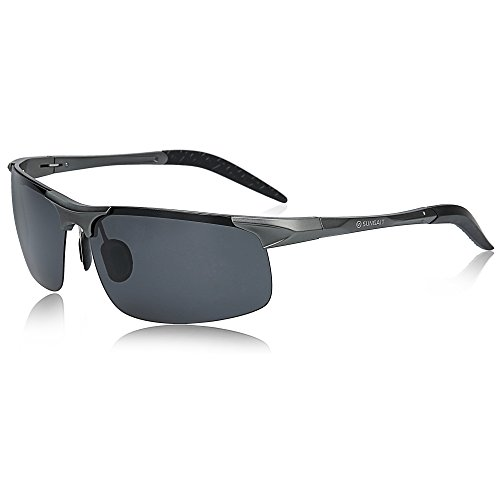 SUNGAIT Men's HD Polarized Sunglasses for Driving Fishing Cycling Running Metal Frame UV400 (Gunmetal, - For Sunglass Driving