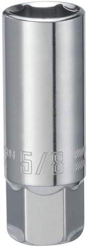 "Performance Tool W38160 Chrome Spark Plug Socket 6 Pt 3//8/"" Dr 5//8/"" Deep"