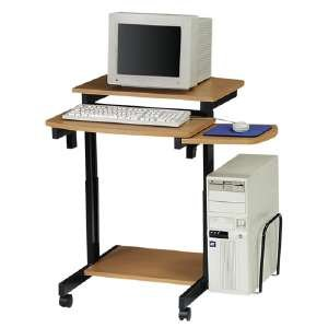 Buddy Products Capri Compact PC Workstation, 31.175 x 34 x 31.5 Inches, Beech and Black (9116-15) by Buddy Products