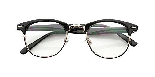 Malcolm X Horn Rimmed Glasses Frames Black Silver Browline Vintage Hipster - Malcolm Sale For Glasses X