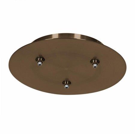 Unijack 87120UJ-BRZ Three Light Canopy44; Bronze Finish