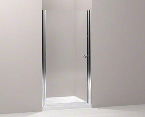 Fluence Pivot Shower Door - KOHLER K-702404-L-SH Fluence Frameless Pivot Shower Door, Bright Silver