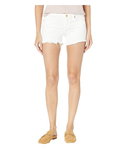 Blank NYC Women's The Lenox Distressed Shorts in Great White Great White 30 2.5 ()