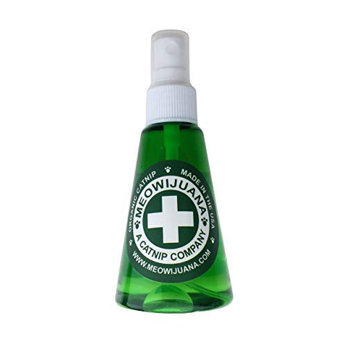 Meowijuana Organic Catnip Spray - 3oz. Bottle - for Use On Cat Toys, Teasers, and Scratchers