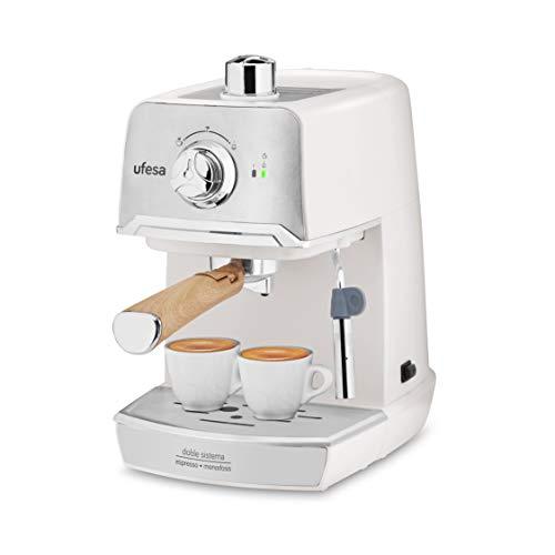 Ufesa CE7238 CREAM – Cafetera Espresso, para preparar Cappuccino e infusiones, Bomba a presión de 20 bares, Sistema…
