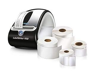 DYMO Label Writer 450 Free Printer Bundle with 4 Label Rolls, Black/Silver (1957331) (B0146SDE0Y)   Amazon Products
