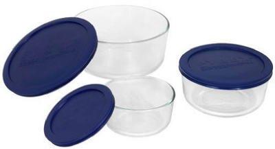 Pyrex Storage 6-Piece Round Dish Set by World Kitchen