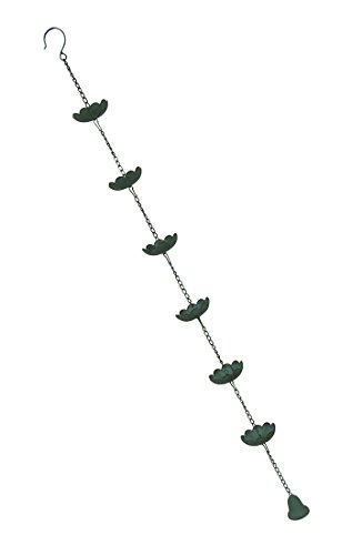 Water Lily Metal Rain Chain 53 in.