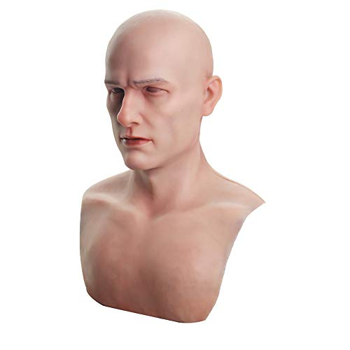Bell Silicone Mask Realistic Youth Male Face Handmade for Halloween Costume Party Cosplay CD & TD (Asian Yellow)